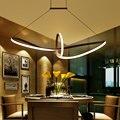 Free de envío remoto de regulación moderna led colgante de luz led lámpara de techo de aluminio 90-265 v lámpara de suspensión para comedor habitación