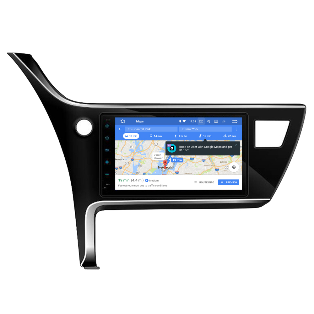 RoverOne Android 8.0 Car <font><b>Multimedia</b></font> System For <font><b>Toyota</b></font> <font><b>Corolla</b></font> Auris 2018 <font><b>2019</b></font> Radio Stereo GPS Navigation Media Player PhoneLink image