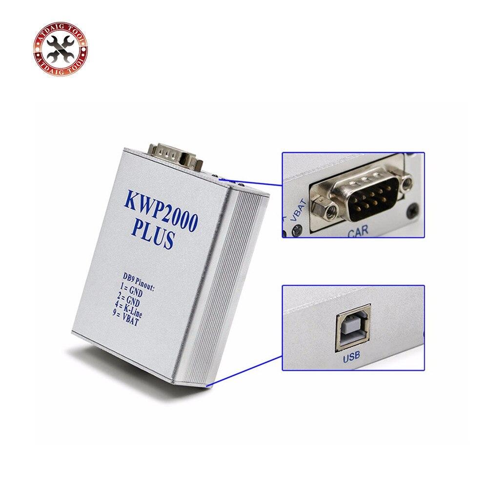 Nouveauté KWP 2000 Plus ECU clignotant KWP2000 OBD2 OBDII ECU outil de réglage de puce lu et écrire ECU pour programmeur de voitures de marque Multi
