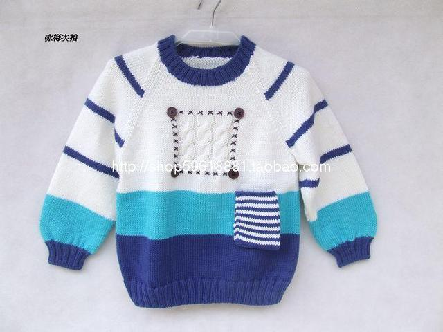dbd5aabc88ca Hand Knitted Wool Pullover Sweater for Baby boy girl 19 24 Month ...