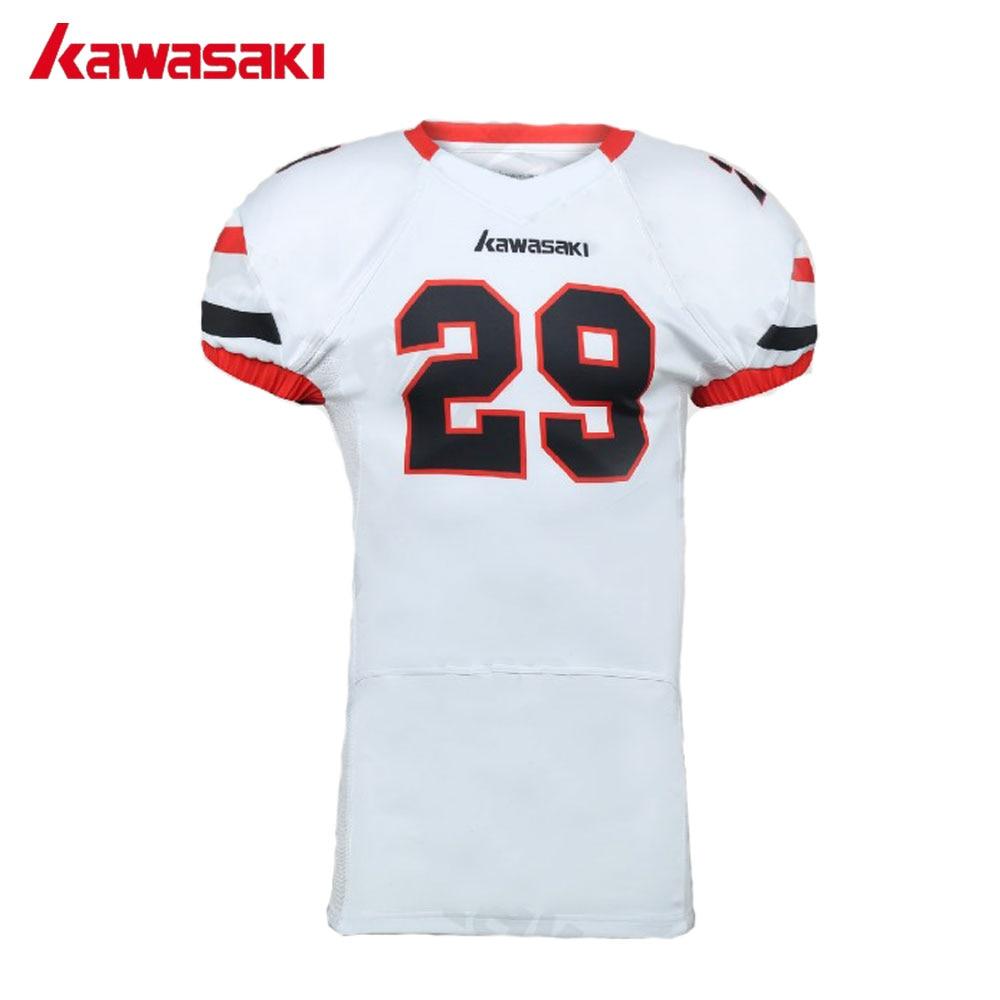 b9be599a7 Kawasaki Brand Custom Professional American Football Jersey Mens Sports Top  Breathable elastic sleeves Youth Football Shirts