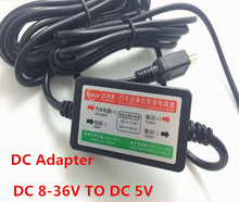 2016 New 12V to DC 5V Hard Wire Power Adapter Cable Cord Jack For Car DVR Dash Camera Car GPS Black