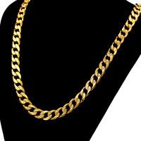 Hip Hop Chunky Long Gold Chain For Men Wholesale 12MM 18K Gold Plated Vintage Necklace Body