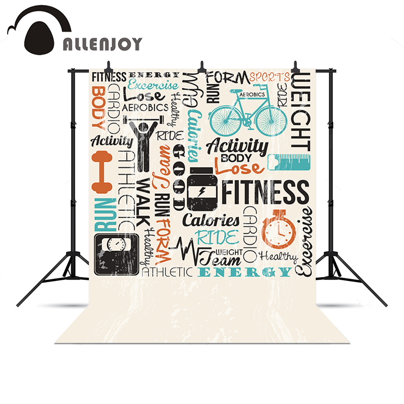 Allenjoy Photo background Fitness sports Diary Customization New chrismas gifts for kids vinyl photo backdrop