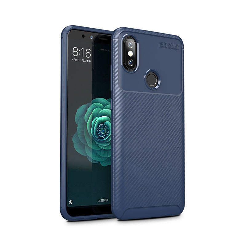Silicone Luxury Carbon Fiber Case For Xiaomi Redmi Note Mi 5 6 6A 7 8 8SE 9 9SE Pro Lite Pocophone F1 GO Soft Back Protect Funda in Fitted Cases from Cellphones Telecommunications