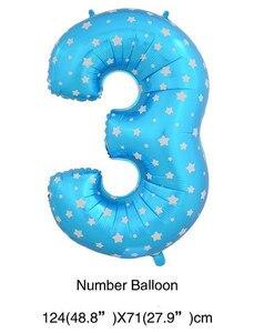 Розовый/синий звезда сердца точка номер гелий Air Шарики одежда для свадьбы, дня рождения Аксессуары надувные baloes номер 3