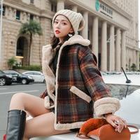 Woman Loose Corduroy Jacket Women New Thick Winter Cashmere Jackets Ladies Cute Outerwear Coat Warm Coat Female