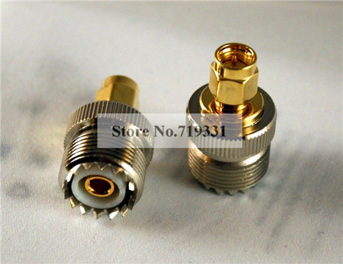 10pcs Adapter SO239 UHF Female Jack to SMA Plug Male RF Connector Straight f type female jack to sma male plug straight rf coax adapter f connector to sma convertor