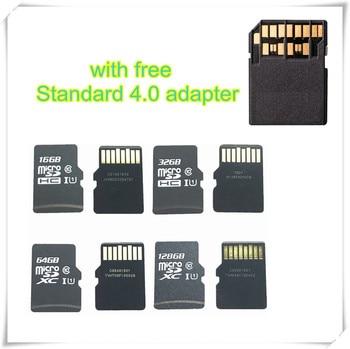 Real Capacity!!! 16GB 32GB 64GB 128GB Micro SDHC SDXC SD Card C10 U1 TF Memory card With Card Adapter4.0 UHS-II, High Speed Card