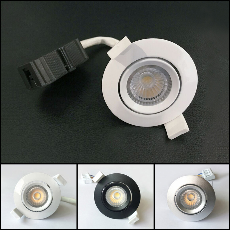 Provided 50pcs/lot 6w Recessed Ceiling Spot Lamps Indoor Home Kitchen White/black/silver Dimmable Hv Cob Lampada Led Downlighters Special Summer Sale Lights & Lighting Downlights