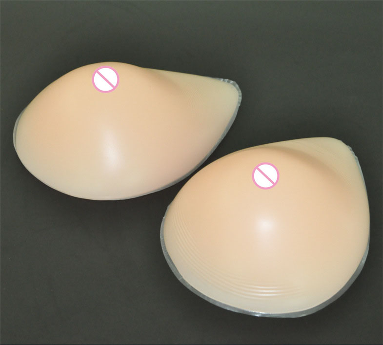 1pair 600g B cup Beige silicone artificial breasts forms false breasts Push Up Bra Pads Fake boobs Tits for woman crossdresser sticky push up bra pads