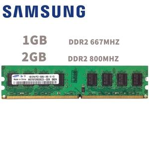 Image 1 - סמסונג 1GB 2GB שולחן העבודה DDR2 PC2 זיכרון 667 800 MHZ 667MHZ 800 MHZ מודול 1G 2G 5300 6400 RAM 5300U 6400U מחשב זיכרון