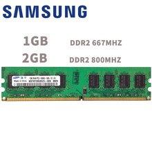 Samsung módulo 1gb 2gb de memória pc2, ddr2 667mhz 800 mhz 667mhz 800 mhz g 5300 6400 ram 5300u 6400u memória do computador