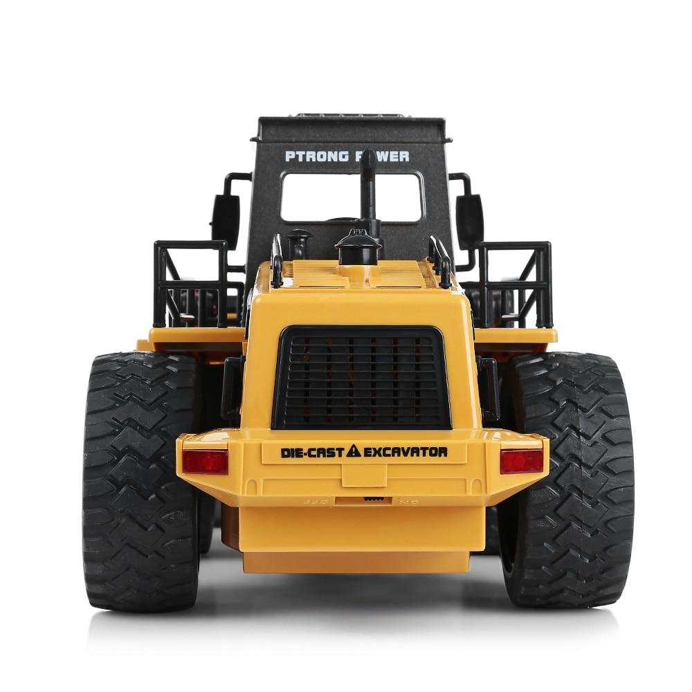 HuiNa1520 RC voiture 6CH 1/18 camions métal Bulldozer charge RTR télécommande camion Construction véhicule voitures pour enfants jouets cadeaux - 4