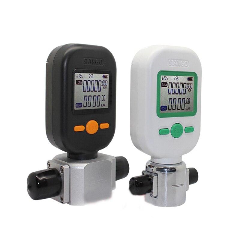 Professionale Digitale Portatile Aria Gas di Azoto Misuratore di Flusso di Ossigeno 10/25/200L/min MF5712 di Alta Precisione Portatile misuratore di Flusso di Gas