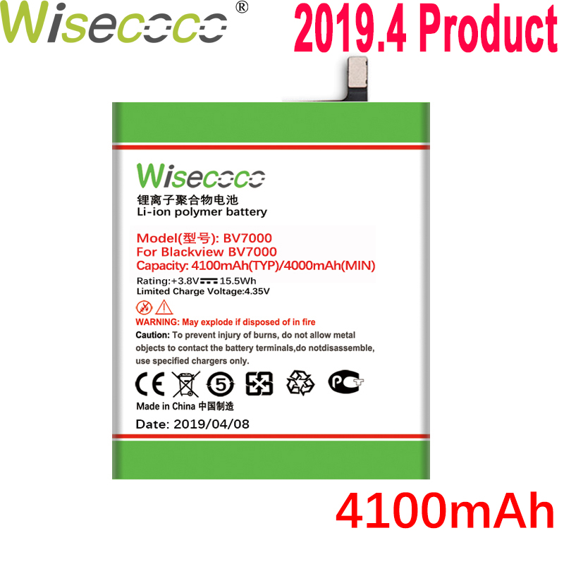 Wisecoco 4100mah Battery For Blackview Bv7000 Bv7000 Pro Mobile Phone Latest Production High Quality Battery+tracking Number Cleaning The Oral Cavity. Cellphones & Telecommunications
