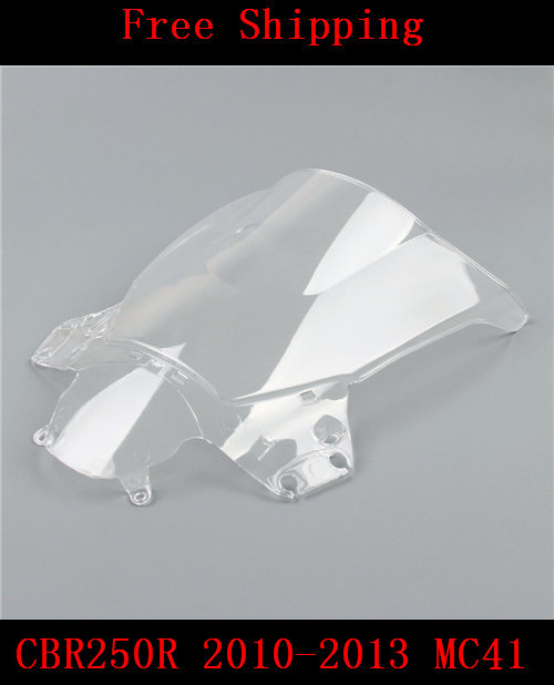 For Honda CBR250R 2010 2011 2012 2013 MC41 CBR250 CBR 250R motorcycle Double bubble windshield windscreen white