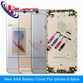 New AAA Metal Battery Case For iPhone 6 & 6 Plus Housing Cover Door Frame Replacement Parts Custom IMEI