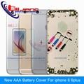 Nova aaa caixa de bateria de metal para iphone 6 & 6 plus tampa da caixa moldura da porta peças de reposição personalizado imei
