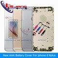 Nueva caja de metal de la batería aaa para el iphone 6 & 6 plus vivienda cubierta de la puerta piezas de repuesto marco personalizado imei