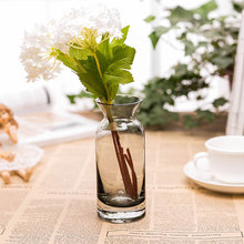 Wedding Decor Glass Vase Modern Style Bottle Cylindrical Flower Home Decorative Floral with Ribbon