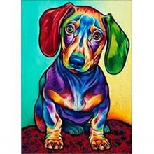 Color dog diamond Embroidery diy painting mosaic diamant 3d cross stitch picture H703