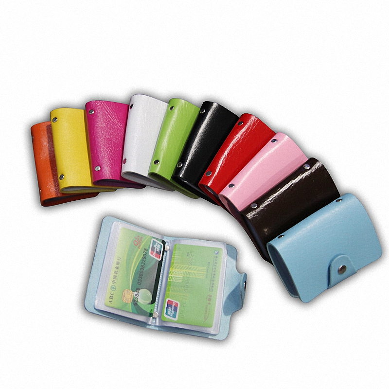 24 Slots Credit Cards Men And Women Pu Leather Credit Card Holder ID Holders Card Holders Business Case Purse 24 Slots