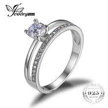 Jewelrypalace 0.6ct anillo aniversario de boda de compromiso de circonio cúbico conjunto guardia potenciador 925 joyería de plata esterlina