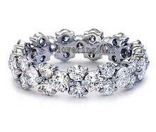 Victoria Wieck Señora de la joyería 8ct Cushion Cut Diamante Simulado Anillos de Bodas tamaño 5/6/7/8/9/10 Regalo Envío gratis