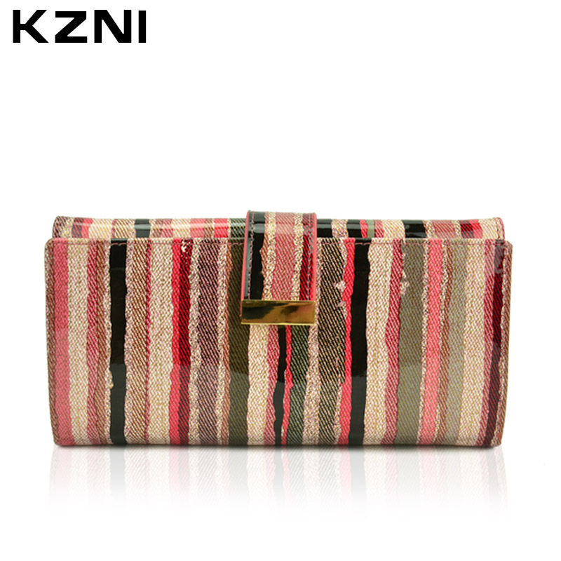 KZNI Designer Wallet Female Day Clutches Genuine Leather Womens Purse Money Portefeuille Femme Women Lock Wallet Card Holder2048 van laack топ без рукавов