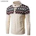 Grátis Hot new outono e inverno 2016 dos homens novos camisola hedging camisola eólica nacional cor feitiço casaco camisola grossa lines2XL