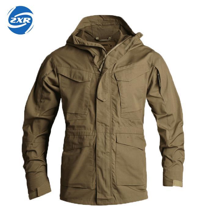 Coupe-vent homme veste escalade tactique vêtements UK M65 automne hiver vol pilote à capuche manteau champ veste chasse hommes