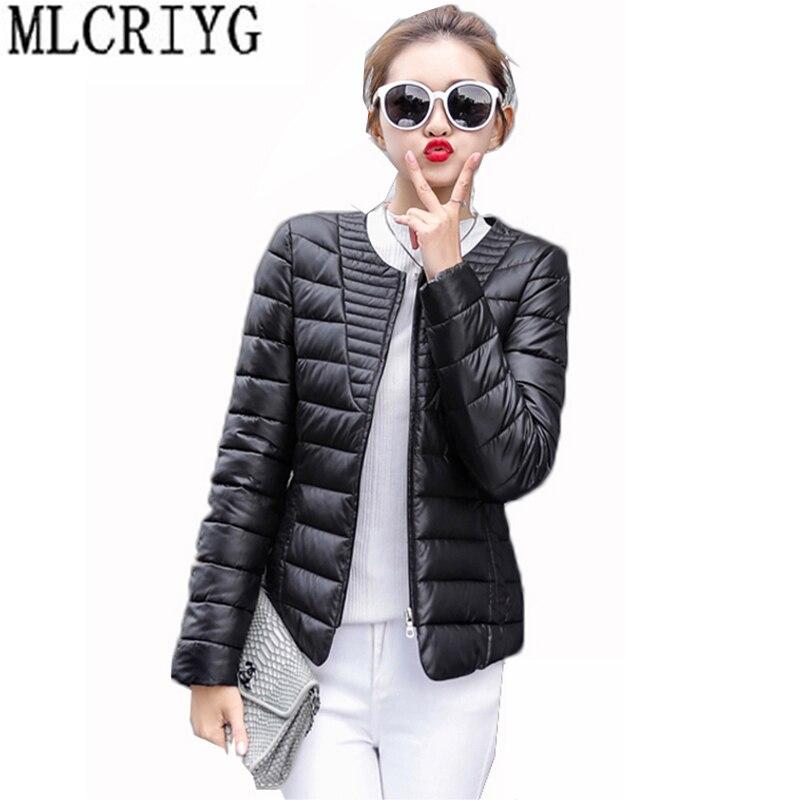 Plus Size 3XL Spring Autumn Wadded Jacket Women Parkas 2019 New Light Short O-Neck Cotton Padded Coats Female Outwear LX02