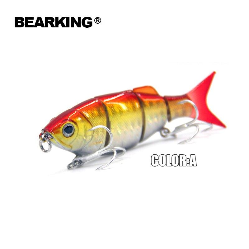 Bearking Hot good fishing lures minnow,hard baits quality professional baits 11cm/27g,swimbait jointed bait