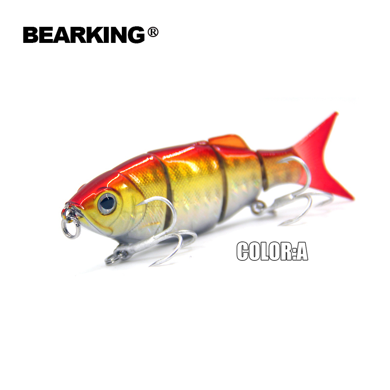Bearking Hot  good fishing lures minnow,hard baits quality professional baits 11cm/27g,swimbait jointed bait 200mm 27g 5pcs lot color send randomly 2015 good bearking fishing lures minnow quality professional minnow