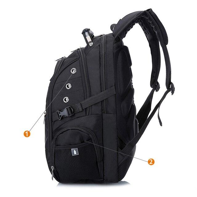 MAGIC UNION Laptop Bag External USB Charge Computer Backpacks Anti-theft Men Waterproof Bags Boy School backpack School bags 2