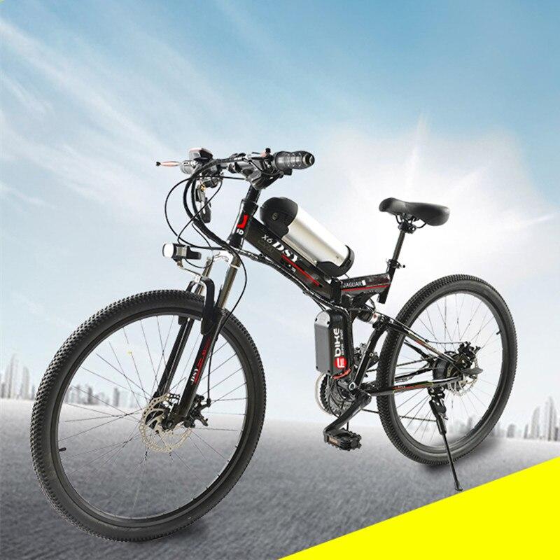 """""""Мощный электрический 350ВТ 36В 10.8 AH литиевая батарея электронной велосипед 26""""""""*1.95 складной Электрический велосипед новый унисекс складной Велоспорт электро """""""