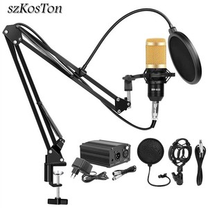 Image 1 - BM 800 Studio Microphone Condenser Microphone Vocal Record KTV Karaoke BM800 microfono For Radio Braodcasting Singing Mic Holder