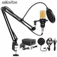 BM 800 Studio Microphone condensateur Microphone enregistrement Vocal KTV karaoké BM800 microfono pour Radio Braodcasting chant support de micro