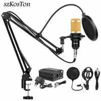 BM 800 Studio Microphone Condenser Microphone Vocal Record KTV Karaoke BM800 microfono For Radio Braodcasting Singing Mic Holder
