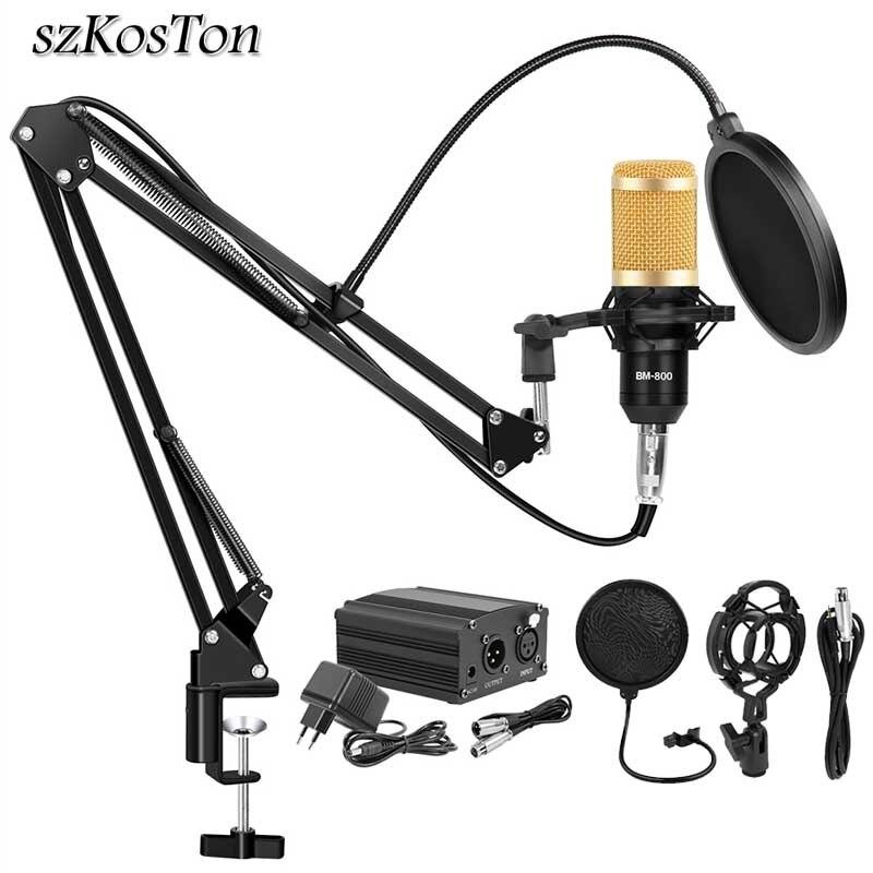 Bm 800 estúdio microfone condensador gravação vocal ktv karaoke bm800 microfono para rádio braodcasting cantando microfone titular