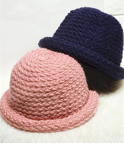 BomHCS Cute Women Dome Curling Meatball Hat Autumn Winter Warm Handmade Knitted Beanie Fisherman Hat Formal Hat Cap bomhcs comfort softness cute women autumn winter warm 100