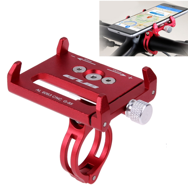 GUB G-85 Metal Anti Slide Bicycle Phone Holder Bike Handlebar Mount Extender Clamp Bike Cycling Clip-on Stem Phone Clamp Holder