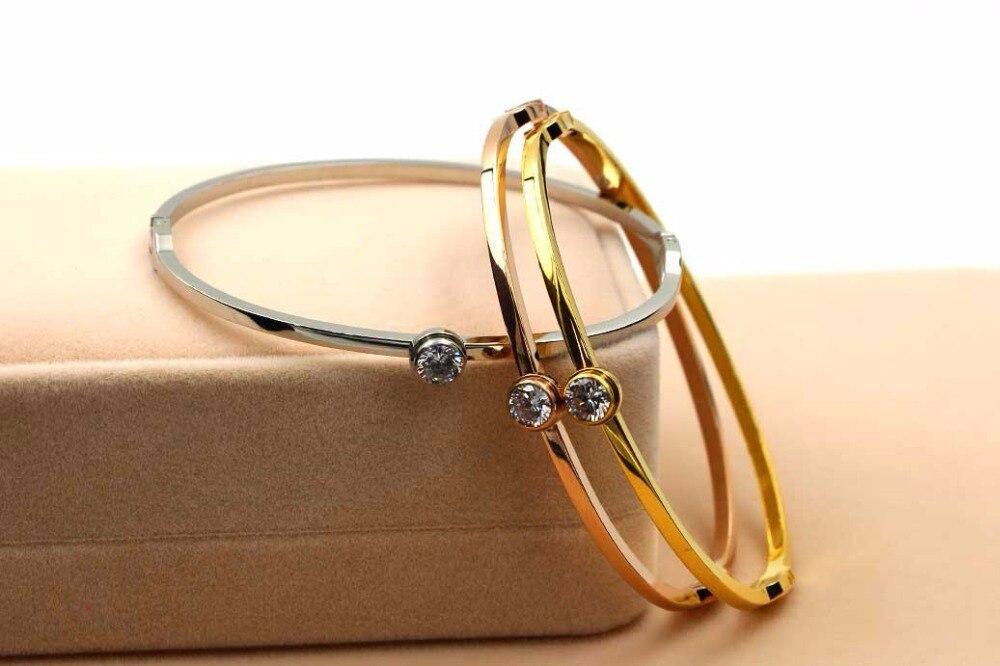 2017 Best Selling Simple Single Drill Bracelet Rose Gold Jewelry