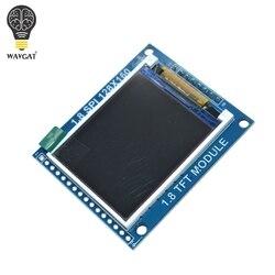 WAVGAT 1,8 дюймовый последовательный SPI TFT ЖК-модуль дисплей с адаптером PCB IC 128x160 точечная матрица 3,3 В 5 в IO интерфейсный жидкокристаллический ди...