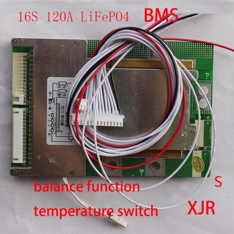 Prix pour 16 S 120A version S LiFePO4 BMS/PCM/PCB conseil de protection de batterie pour 16 Packs 18650 LiFePO4 Batterie cellulaire w/Équilibre