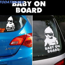 4174a9f7e4 Car-styling Car Baby Safty Window Tail Door Sticker Decal for bmw r1200gs  mercedes cla opel zafira b renault trafic audi a4 b5