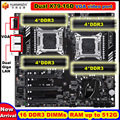 Neue ankunft rabatt HUANANZHI dual X79 motherboard mit VGA video port 16 DDR3 DIMM RAM max bis zu 16 * 32G dual Giga LAN ports