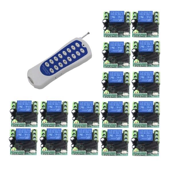 Commutateur de commande à distance commutateur intelligent d'appareils ménagers 16 pièces DC 12 V 10 commutateur intelligent code fixe ugs: 5465