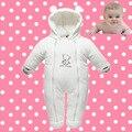 Invierno bebé de algodón de down algodón acolchado mameluco del bebé de los mamelucos del bebé